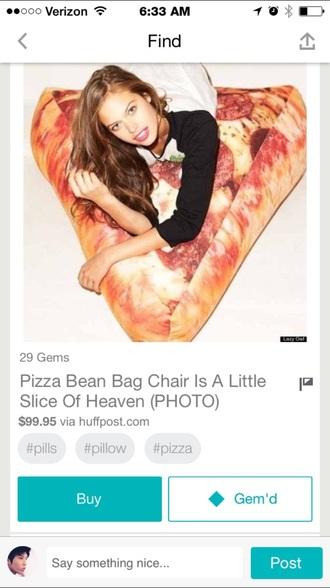 nail polish pizza slice pillow bag beanie