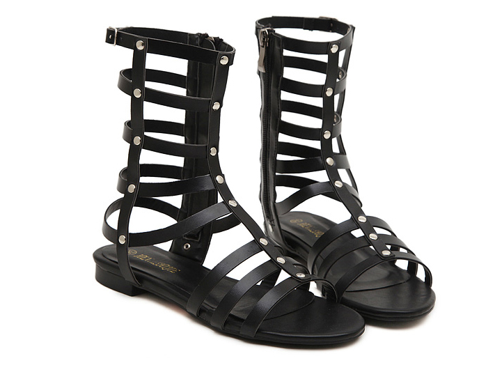 Gladiator cut out black boho sandals shoes · fashion struck · online store powered by storenvy