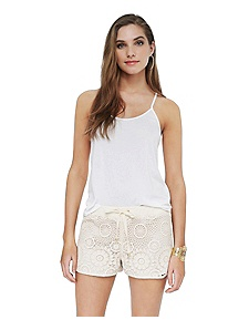 Guipure lace short