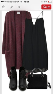 dress,black,boots,cardigan,black dress,loose dress,chiffon dress,chiffon,bag,ankle boots,loose cardigan,hippie,hipster,boho,boho chic,soft grunge,purse,burgundy,sweater,casual,maroon/burgundy,shoes,t-shirt,burgundy cardigan,strappy,swing dress,little black dress,open cardigan,wine cardigan,tank top,burgandy cardagin,acne studios,long,grunge,burgundy sweater,pockets,black chelsea boots,heels,shoes black grunge flat