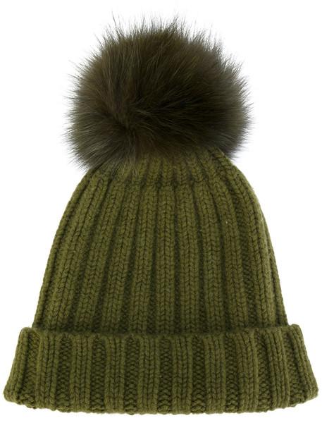 beanie pom pom beanie green hat