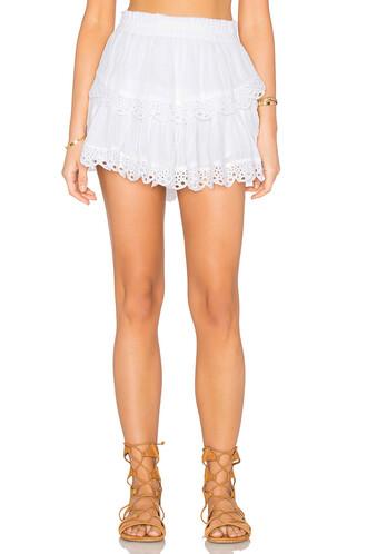 skirt mini skirt mini ruffle white