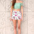 White Shorts - White High Waisted Floral Shorts | UsTrendy