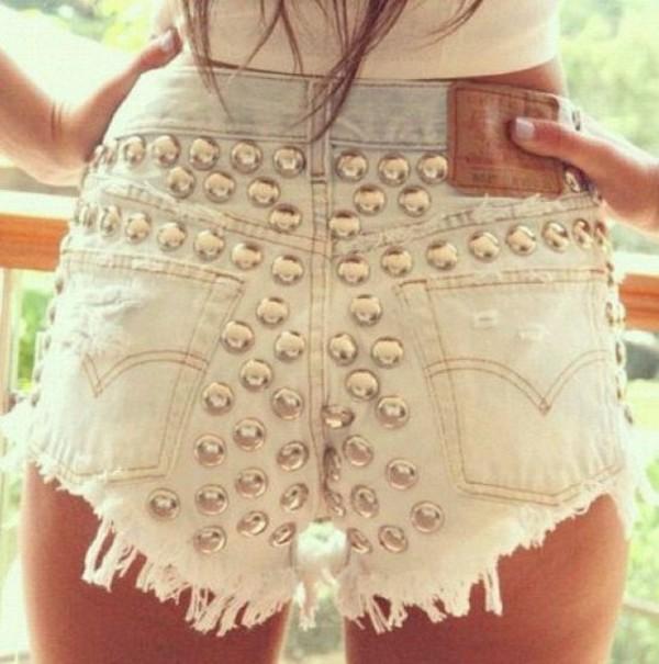 girl levi's perfect studs levi's shorts levi's