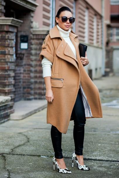 coat beige oversized oversized coat