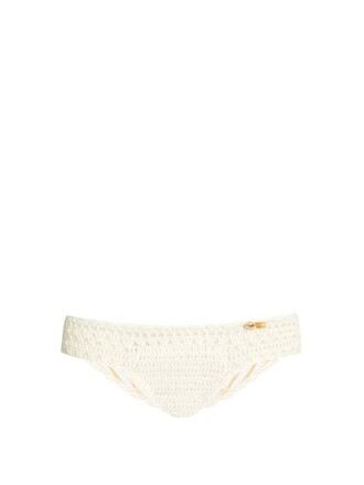 bikini crochet bikini mini hipster crochet cream swimwear