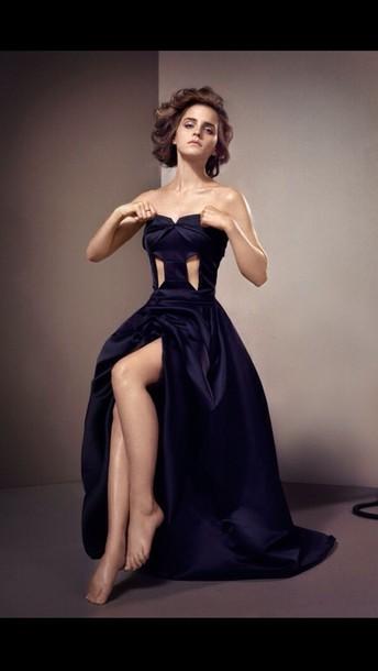 Dress Emma Watson Long Black Dress Classy Wheretoget