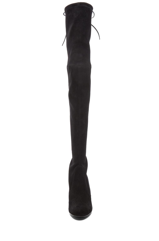 Stuart Weitzman|Suede Highland Boots in Black