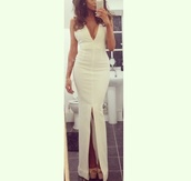 dress,prom dress,white dress,white,ball gown dress,evening dress,starry night,sexy prom dress,mermaid prom dress,prom dress 2016,long evening dress,sexy evening dresses,formal dress