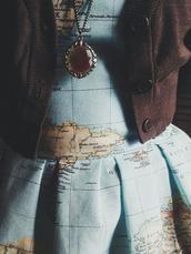 map,short,aline,yellow,baby blue,light blue,countries,jacket,cardigan,zip