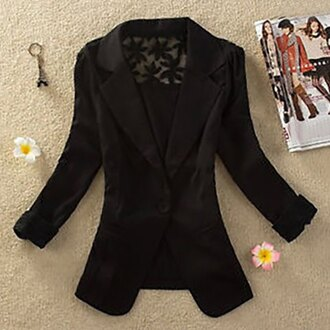 cardigan black blazer fashion style lace chic office outfits