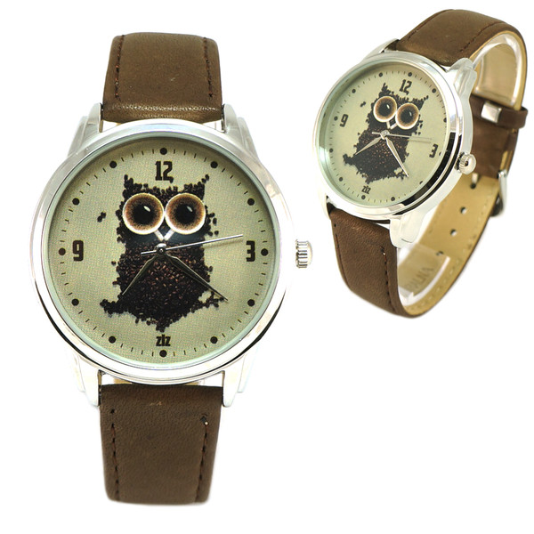 jewels watch watch ziz watch brown coffee watch coffee coffee owl leather watch funny watch cute watch unusual watch unique watch designer watch ziziztime
