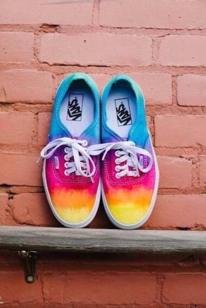 shoes vans tie dye multicolor