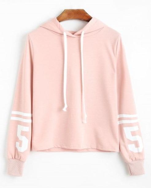 sweater girly pink hoodie sweatshirt