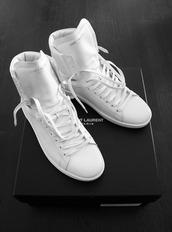 shoes,white,all wait,saint laurent