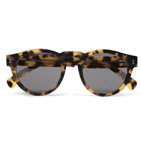 Illesteva - Leonard Matte Tortoiseshell Acetate Sunglasses|MR PORTER