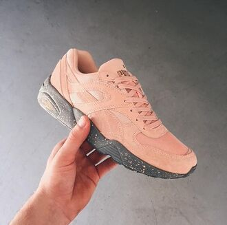 shoes puma puma sneakers sneakers fashion running workout coral coral shoes speckles speckled speckled shoes black dark green camouflage grey gray puma running shoes puma shoes store dusty pink pastel sneakers pastel pink pink women shoes trinomic girls sneakers
