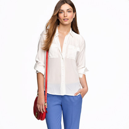 blouse in silk - blouses - Women's shirts & tops - J.Crew