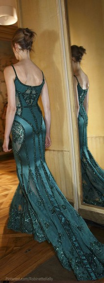 embellished prom sequin clothes green satin back formal