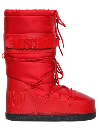 snow boots snow boots red shoes