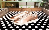 shoes,adidas,stan smiths,adidas stan smiths,rose gold,trainers,sneakers