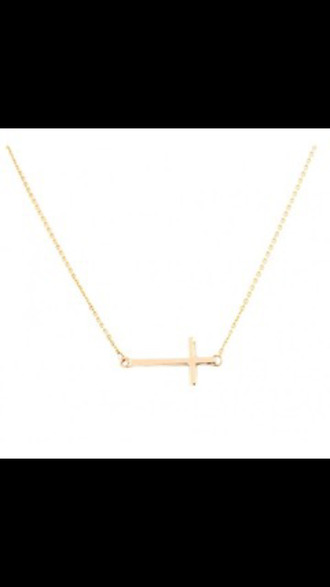 jewels necklace acacia brinley sideways cross jewelry brandy melville anarchy street
