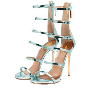 11f8e2ac94b Lightblue Gladiator Sandals