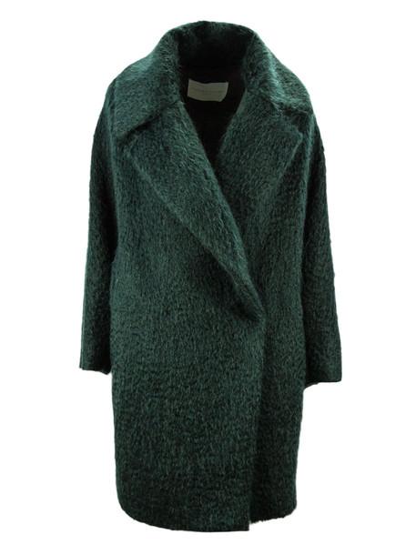 Fabiana Filippi Green Oversized Single Breasted Coat.