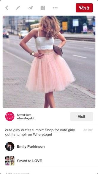 skirt pink princess top