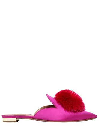 mules satin shoes