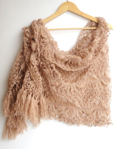 wrap scarf winter outfits fall outfits fall clothes mothersday gift idea best gifts crochet scarves scarves shawl womens scarves bridesmaid gifts fall wedding beige mothers day fall trend 2014 fashion trends 2014 scarfs 2014 scarfs trends spring trends 2014 luxurious