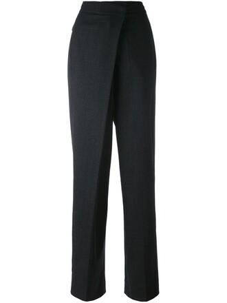 loose women spandex fit mohair cotton grey pants