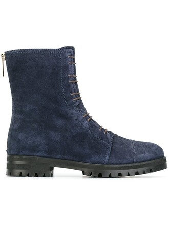 boots ankle boots blue shoes
