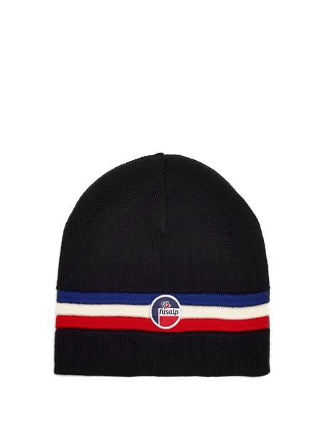 Fusalp hat beanie wool dark blue dark blue