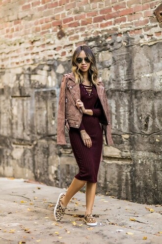 lace and locks blogger jacket dress sweater shoes sunglasses