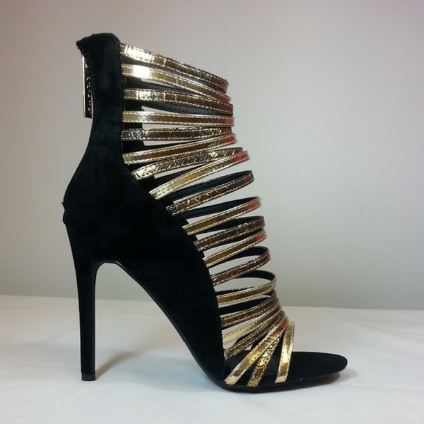 4920134d9af shoes medium heels high heels strappy heels gold prom black heels sandal  heels sandal heels open