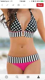 swimwear,black and white striped