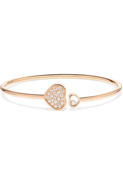 Chopard - Happy Hearts 18-karat Rose Gold Diamond Cuff