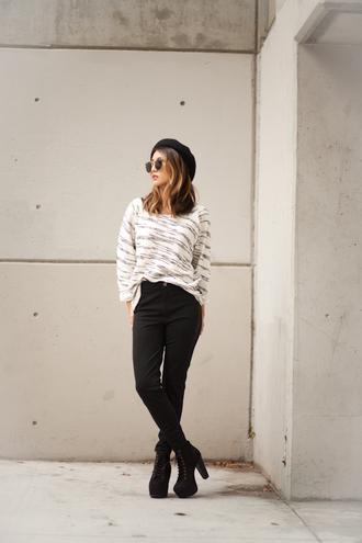 atsuna matsui atsuna matsui » blogger sunglasses sweater pants shoes