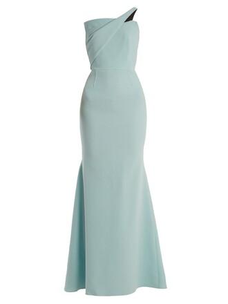 gown wool light green dress