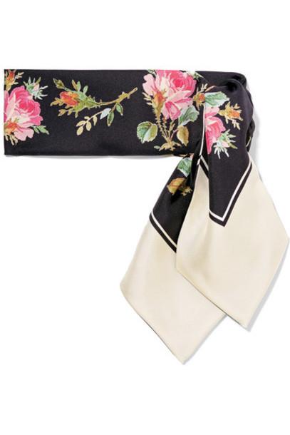 gucci scarf black silk