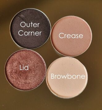 make-up dark eyes brunette brown beige nude bronze eye shadow shadow shadows matte shimmery shimmer