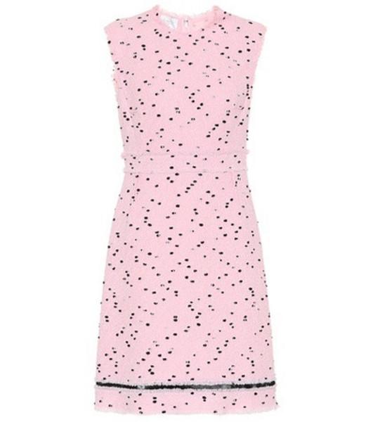 Giambattista Valli Bouclé wool-blend dress in pink