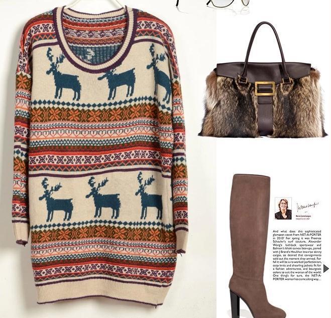 Vintage animal sweater