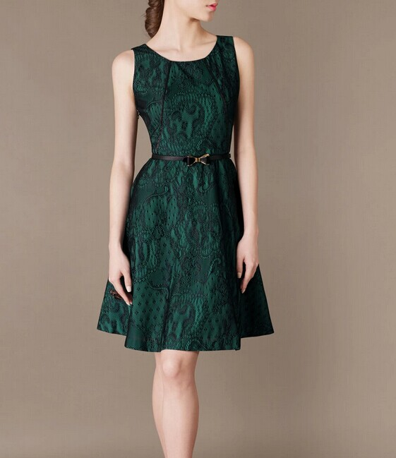 Green Sleeveless Elegant Noble Summer OL Loose Women Fashion Dress lml7085 - ott-123 - Global Online Shopping for Dresses