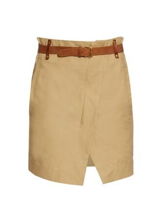 skirt cotton tan