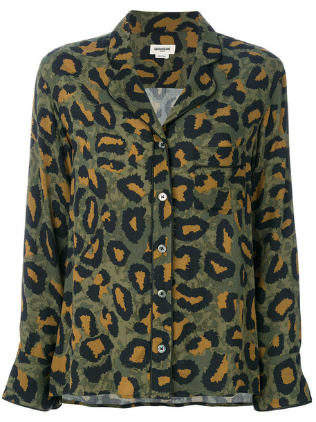 Zadig & Voltaire shirt women green top