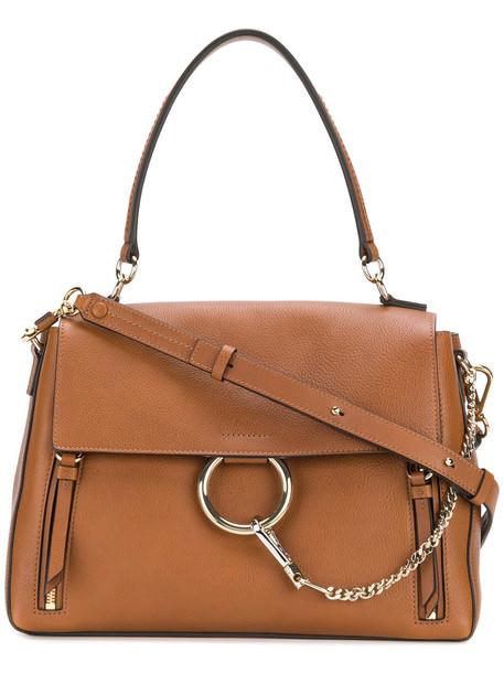Chloe women bag leather cotton brown