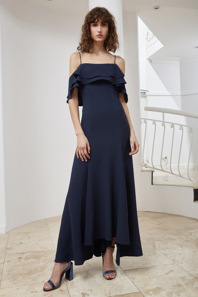 C/MEO COLLECTIVE gown navy dress