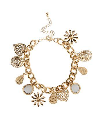 Gold Assorted Charm Bracelet